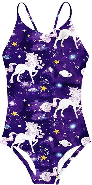 traje de baño con unicornios