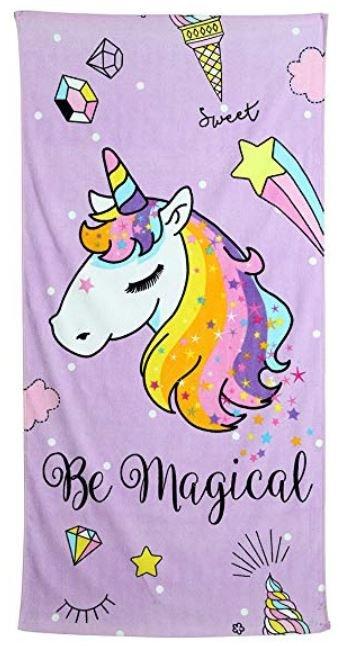 toalla con unicornios