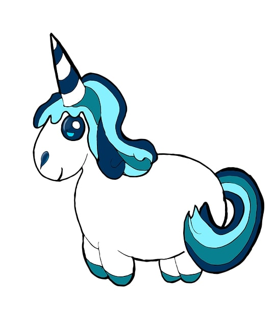 unicornio kawaii gracioso