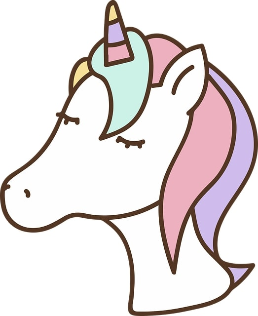 unicornio kawaii dibujo