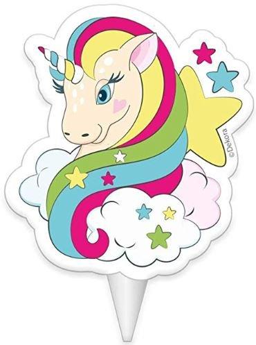 vela con unicornio