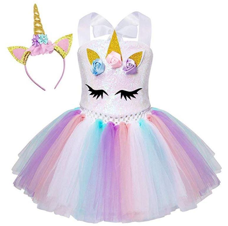 vestido con unicornios