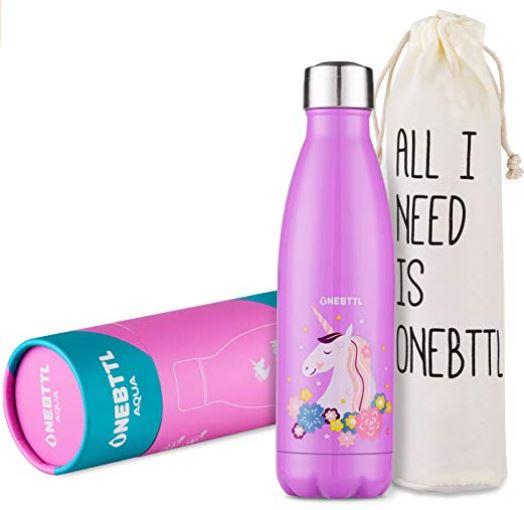botellas de agua unicornio