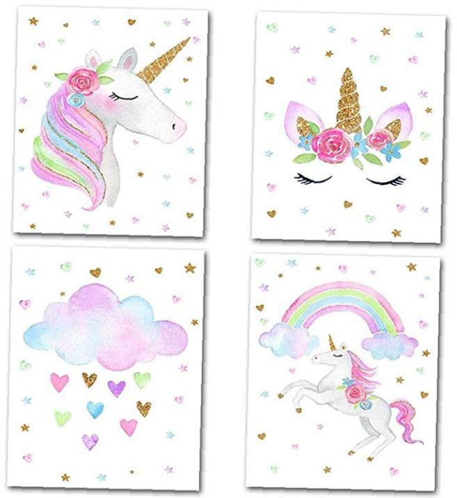 cuadros para fiestas de unicornios