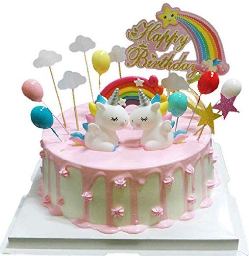 velas de unicornio para pastel
