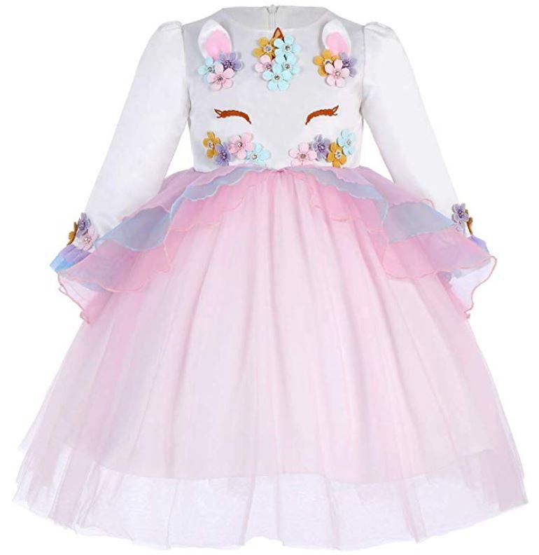 vestido unicornio zara